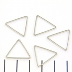 ring triangle with flat sides - silver 18mm