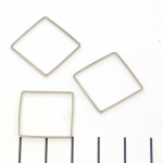 ring square with flat sides - silver 20mm