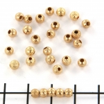stardust bead 4 mm - gold