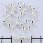 stardust kraal 4 mm - zilver