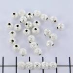 stardust kraal 6 mm - zilver