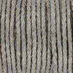 gevlochten leer 3 mm - metallic zilver