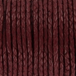 braided leather 4 mm - burgundy