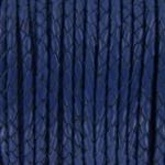 gevlochten leer 4 mm - denim blauw