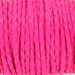 imitatie gevlochten leer 4mm - neon roze