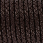braided leather 5 mm - brown
