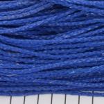 imitatie gevlochten leer 3 mm - neon blauw