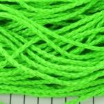 imitatie gevlochten leer 3 mm - neon groen