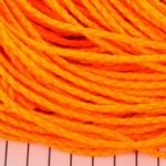 imitatie gevlochten leer 3 mm - neon oranje