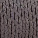 gevlochten leer 3 mm - pastel lavendel