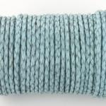 gevlochten leer 3 mm - pastel baby blauw