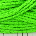 imitation braided leather 5 mm - neon green