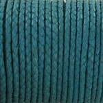 braided leather 3 mm - turquoise