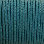 gevlochten leer 3 mm - turquoise