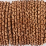 braided leather 3 mm - brown