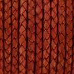 gevlochten leer 3 mm - zacht rood