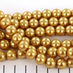 glass pearls 10 mm - gold