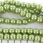 glass pearls 10 mm - light green
