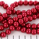 glasparels 10 mm - rood