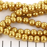 glasparels 8 mm - goud