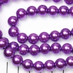 glasparels 10 mm - lila paars