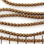 glass pearl 4 mm - antique gold