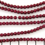 glasparels 4 mm - burgundy