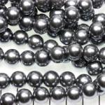 glasparels 10 mm - grijs donkerzilver