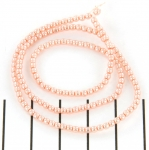 glass pearl 2 mm - peach chiffon