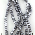 glass pearl 4.5 mm - silver grey
