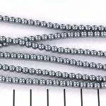 glasparels 4 mm - grey