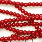 glasparels 6 mm - rood