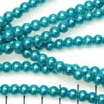 glass pearls 6 mm - turquoise