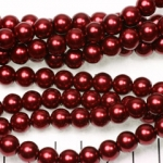 glass pearl 8 mm - dark red