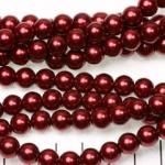 glass pearl 8 mm - dark red