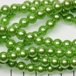 glass pearl 8 mm - chartreuse