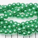 glasparels 8 mm - peridot groen