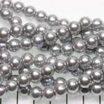 glasparels 8 mm - zilver