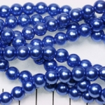glass pearl 8 mm - blue
