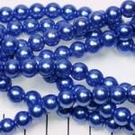 glass pearl 8 mm - blue