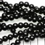 glasparels 8 mm - zwart