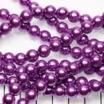 glass pearl 8 mm - lilac purple