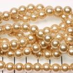 glass pearl 8 mm - beige