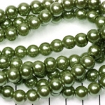 glasparels 8 mm - groen
