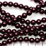 glass pearl 8 mm - dark purple
