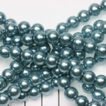 glass pearl 8 mm - blue grey