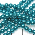 glass pearl 8 mm - turquoise