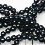 glass pearl 8 mm - dark blue