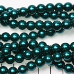 glasparels 8 mm - donker turquoise petrol