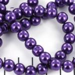 glass pearl 8 mm - purple